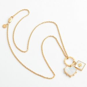 4ab74083cb462 Tory Burch Jewelry | Lacquered Logo Charm Long Necklace | Poshmark